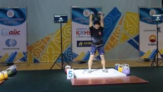 ЧМ 2016. Hyun Sung Eun (Ю.Корея). толчок 126 (24 кг), г. Актобе (Казахстан)