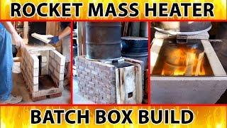 """Peter van den Berg builds the 8 inch batch box rocket mass heater - excerpt from """"Better Wood Heat"""""""