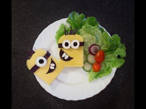 Minions sandwich ,how to make minions lunch box for kids,minion food ideas