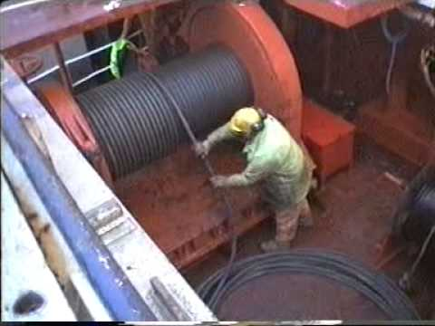 Life in the British Merchant Navy Deck Crew - Working Winch Wires 1990s
