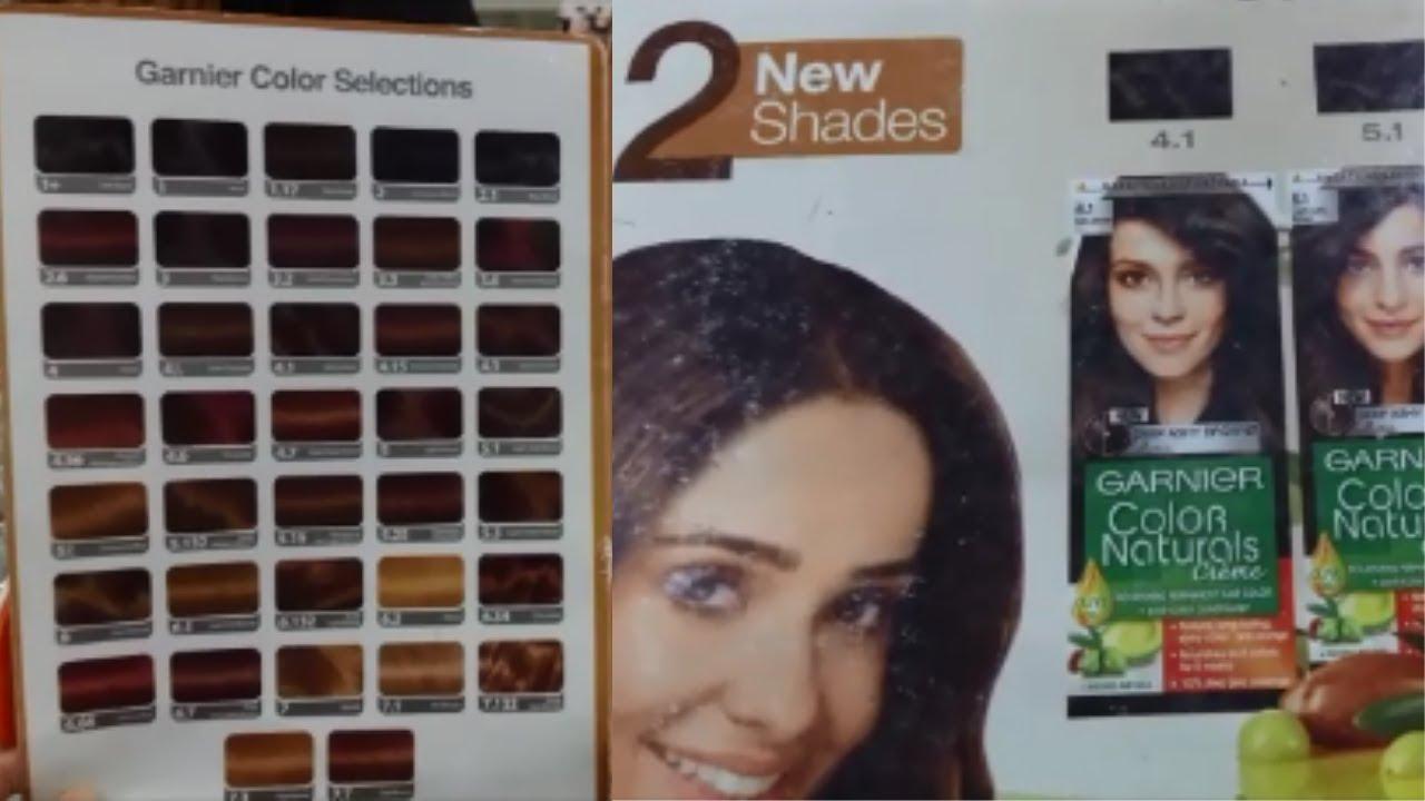 Garnier Color Naturals Hair Color Shades Price And Review Garnier Hair Colour Shade Card Youtube