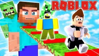 MINECRAFT IN ROBLOX OBBY! ESCAPE FROM MINECRAFT! | Pat vs. Tomek