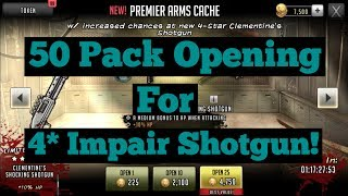 The Walking Dead: Road To Survival - 50 Pack Opening For Clementines Shocking Shotgun + Overview!