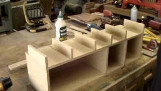 overhead sanding storage (scrap wood of course)
