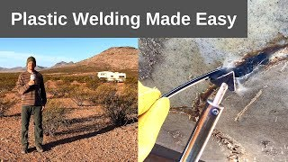 Plastic Welding RV Holding Tank Repair, DIY with a Plastic Welding Iron Kit