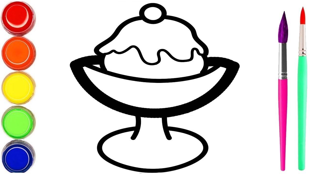 Cangkir Es Krim & Milkshake Mewarnai Dan Menggambar Untuk