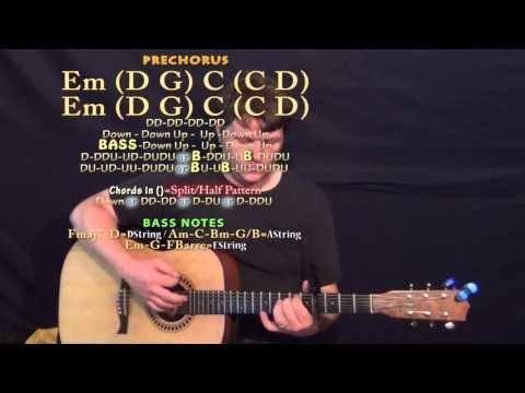 Pray You Catch Me (Beyonce) Guitar Lesson Chord Chart - Capo 4th