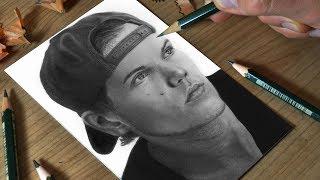 Graphite drawing In Memory of AVICII