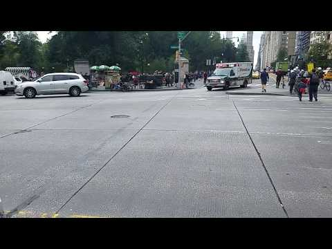 SeniorCare EMS Responding On Columbus Circle In Midtown, Manhattan, NY