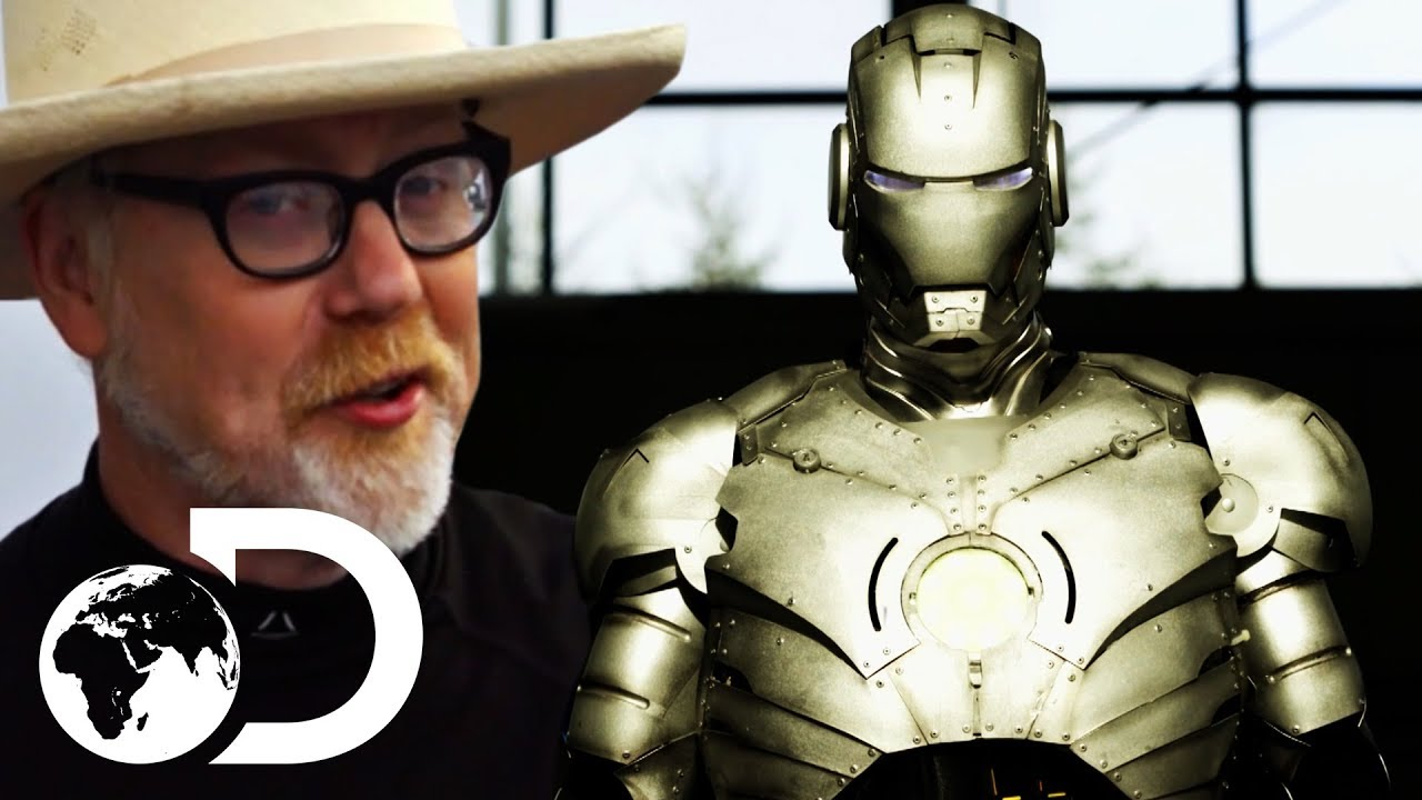 A Better Look At Adam Savage's Flying, Bulletproof Iron Man