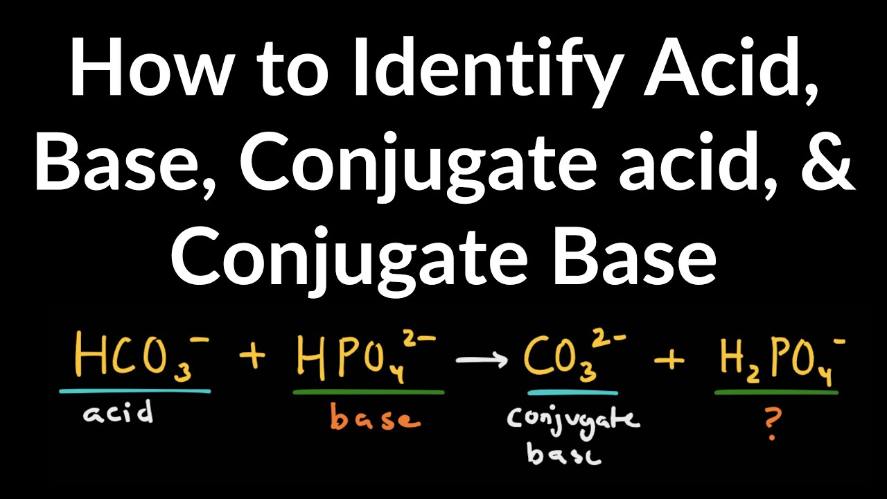 How to Identify Acid, Base, Conjugate Acid, and Conjugate Base Examples and  Practice Problems