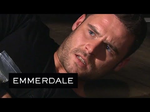 Emmerdale - Cain Saves Aaron From The Evil Jason