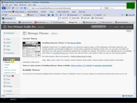 Installing Google XML Sitemap To Get Indexed Into Search Engines.FLV - YouTube
