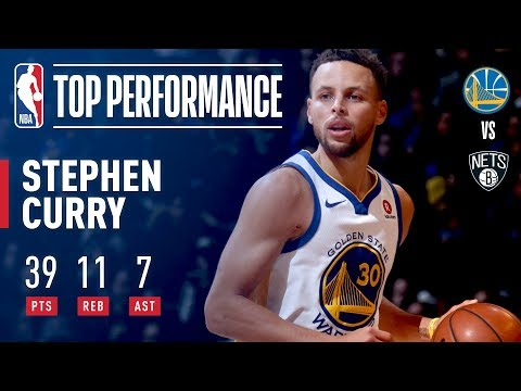 Stephen Curry goes OFF for 39 Points, 11 Rebounds and 7 Assists vs the Nets | November 19, 2017