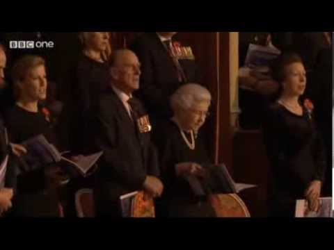 Royal British Legion Festival of Remembrance 2013 3 Cheers for Her Majesty the Queen