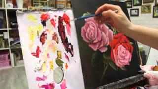 Алла Белопесоцкая видеоурок многослойная живопись маслом роза