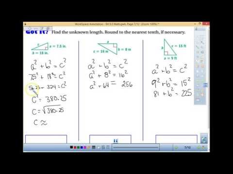 B4 Math 8 Pythagorean Theorem use