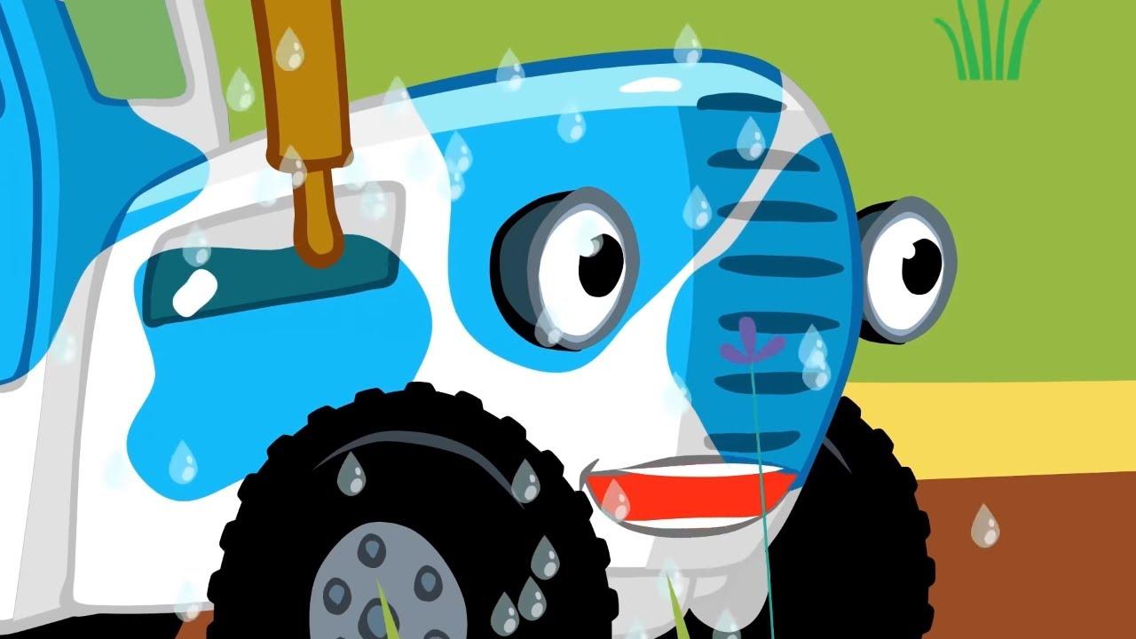 Синий трактор - УЧИМ ЦВЕТА - Разноцветные машинки - Сборник - Песенки