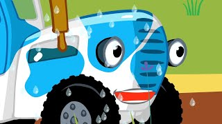 Синий трактор - УЧИМ ЦВЕТА - Разноцветные машинки - Поём  песенки #домавместе