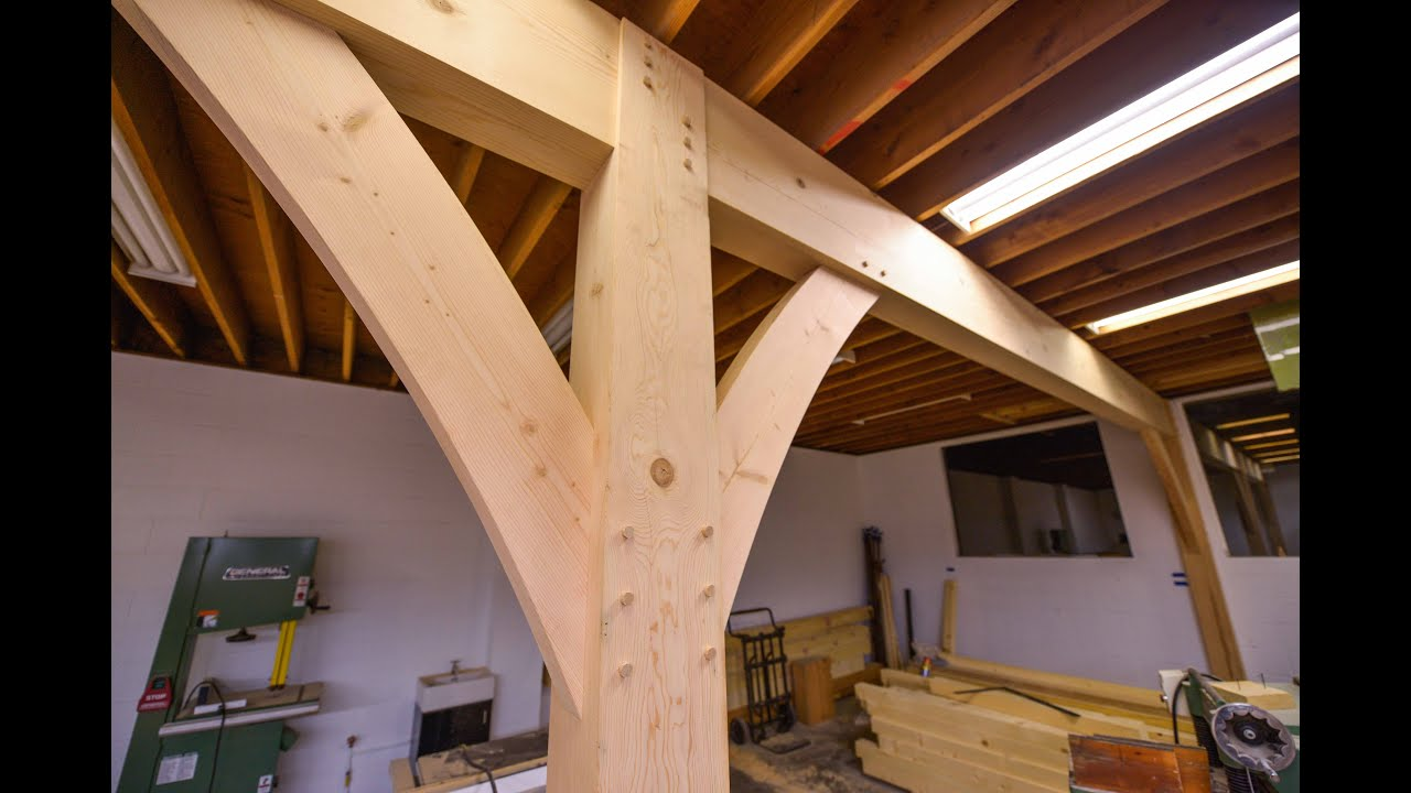 How To Install Huge Beams With Joinery Youtube