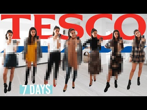 I Wore SUPERMARKET clothes for a WEEK! TESCO OUTFIT CHALLENGE! 7 DAYS, 7 OUTFITS..
