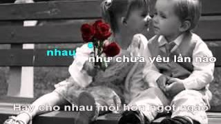 karaoke- Hay Yeu Nhu Chua Yeu Lan Nao - Le Huu Ha
