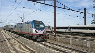 NEC Railfanning at Rahway - With High Speed Amtrak Action