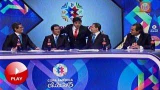 """""""CLAUDIO PIZARRO"""" interrumpe transmisión de la copa américa!! 11/06/15"""