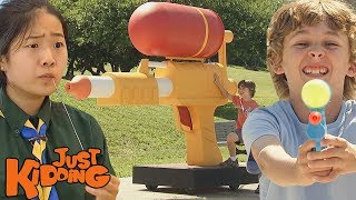 Mutant Spiders, Giant Cheese, & The World's Greatest Water Gun | Best of Just Kidding Pranks