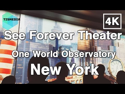 See Forever Theater At One World Observatory【4K】in Lower Manhattan, New York City