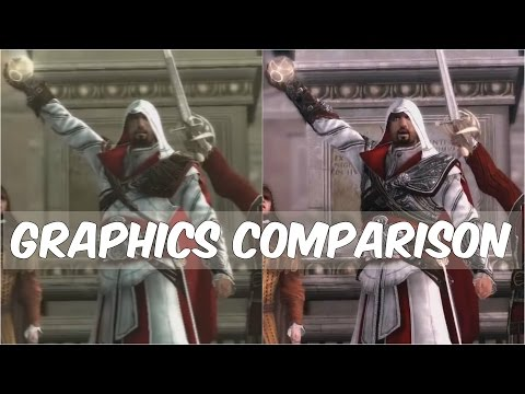 Assassin's Creed The Ezio Collection (Remastered) vs Old games - Graphics Comparison