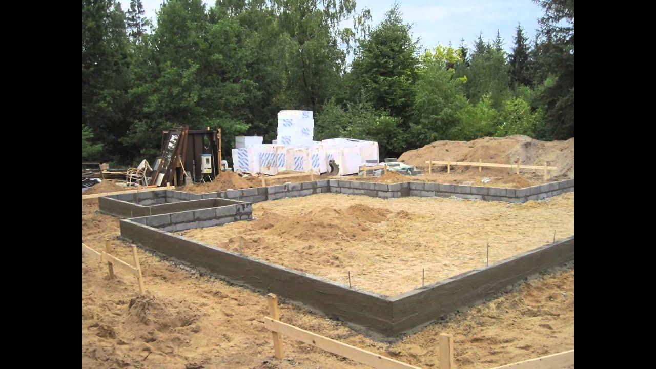 støbning af fundament til sommerhus