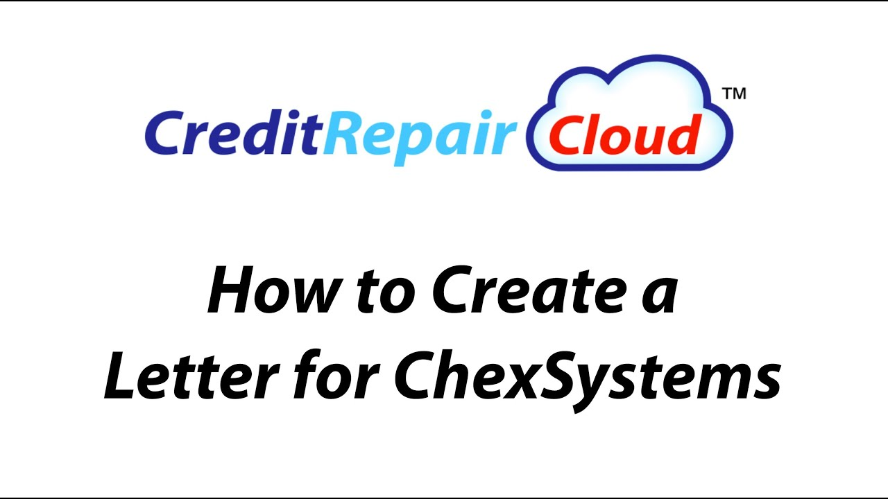 letter creator how to create a letter for chexsystems 22795 | maxresdefault