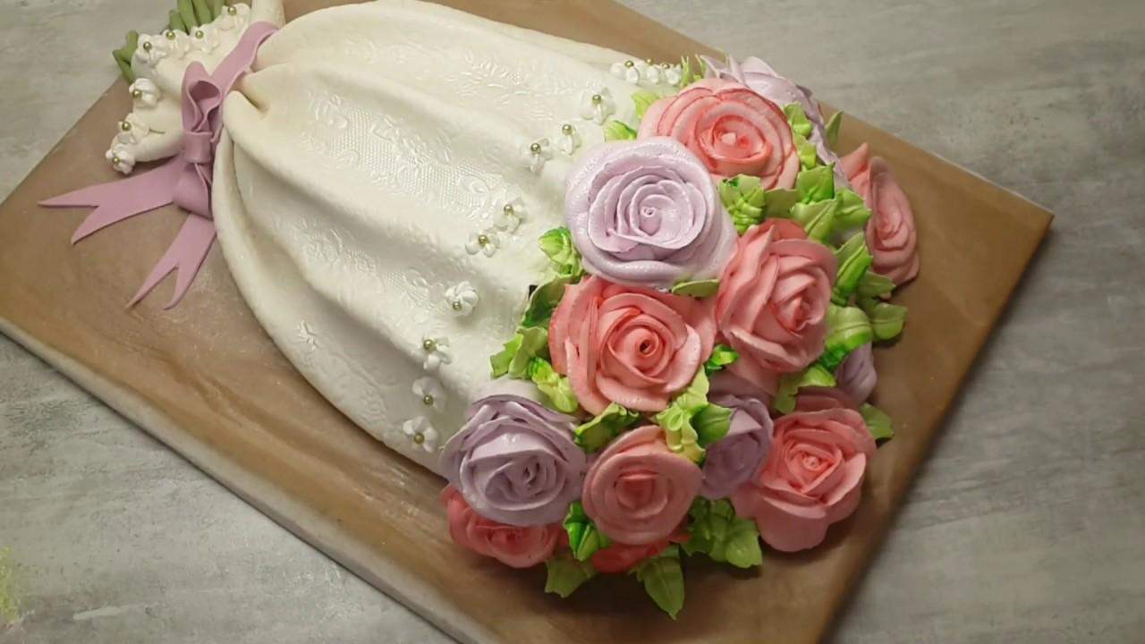 Как сделать торт букет цветов