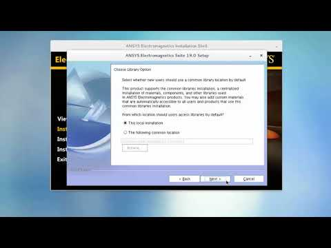 Installing the ANSYS Electromagnetics Suite on Linux