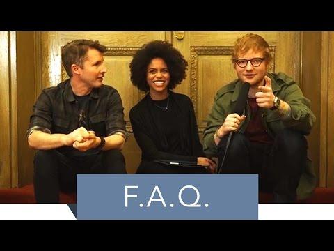 Ed Sheeran & James Blunt Q&A