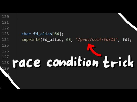 Race Condition Trick /proc/self/fd