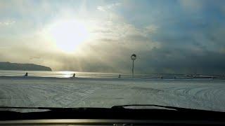 車載動画  道道1167号北斗茂辺地インター線  朝焼けの海