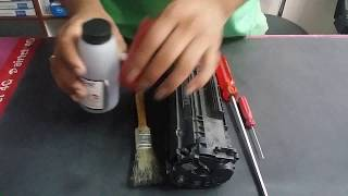 how to refill 12a cartrage in hindi /  HP Laserjet P1005 Toner Cartridge Refill
