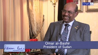 President Omar al Bashir of Sudan, on the economy, the ICC warrant and his future plans.