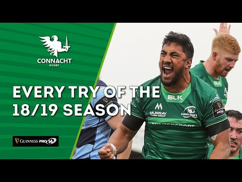 Every Connacht try of the 2018/19 season