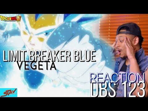 VEGETA LIMIT BREAKER BLUE VS JIREN DBS 123 REACTION! DRAGON BALL SUPER EPISODE 123