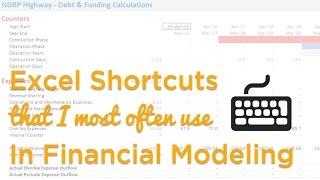 Financial Modeling Excel Shortcuts Video
