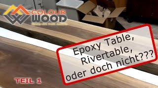 Epoxy Table, River table, Epoxidharz Tisch oder doch nicht? | Teil 1 | Formenbau | Epoxidharz gießen