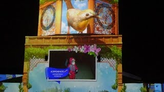 "3D световое шоу ""Весна прилетела"" 10 марта 2016 #Аэрофлотвесна #Казань"