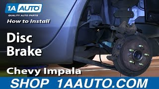 How to Replace Brake Kit 06-10 Chevy Impala
