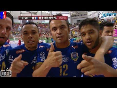 Gols Brasil 9 x 4 República Tcheca - 4ª Rodada Grand Prix de Futsal 2018 (03/02/2018)