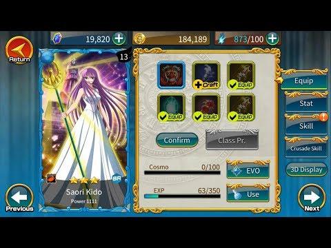 Guía Saint Seiya Zodiac Brave ; Saori Kido