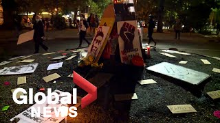 Portland protests: Crowds dwindle on 67th night of demonstrations
