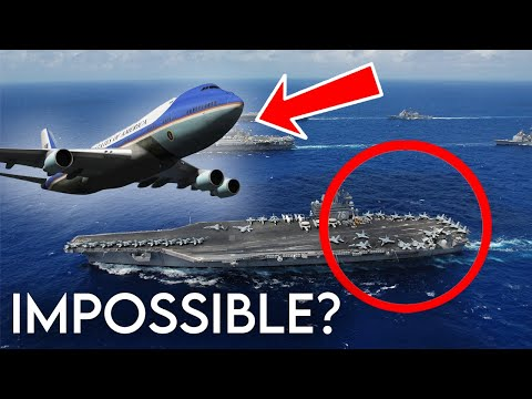 Boeing VC-25 (747) Emergency Landing On Aircraft Carrier   GTA 5